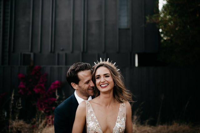 Dark Colour Gorgeous Bride Gold Dress Fremanlte Wedding