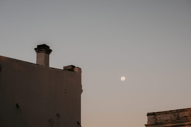 Building Sunset Night Fremantle Sky Line Moon