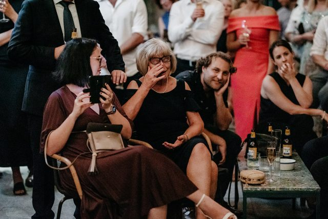 Guildhall North Fremantle Reception Guests Cry